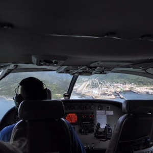 Flying into Skagway on a 7 seater Cessna airplane